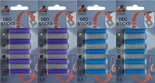 20 Deosticks 2 Duft-Varianten Lavendel, Ozean: Deostick, Duftstäbchen, Lufterfrischer, für Staubsauger, Duftpatronen, Deo, Raumerfischer,