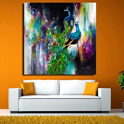 yhyxll Katy HD Stampato su Tela Animale Pittura su Tela Animale Phoenix Immagini da Parete per Soggiorno Pittura Decorativa Senza Cornice 50X50 cm