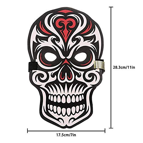 fasloyu LED Masks  Halloween Scary Cosplay Masks Fancy Cosplay Costume Sound Reactive Full Face Light up Mask Dance Rave EDM Plur Party  D