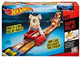 Best Hot Wheels Race Tracks - Hot Wheels Rapid Relay Track Set, Multi Color Review