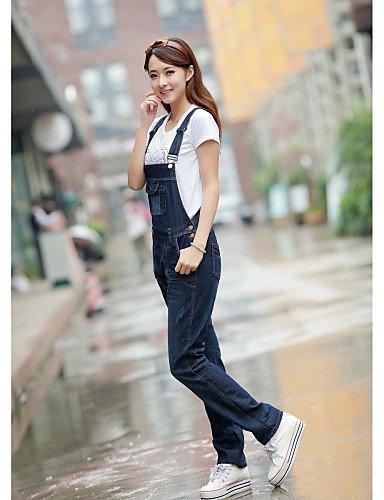 GSP-Pantalon Aux femmes Vintage / Décontracté / Mignon / Soirée / Travail / Grandes Tailles Autres blue-s