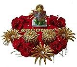 #9: Ekta Handicrafts Ganesha Engagement/Wedding Ring Platter with Couple Ring Holder