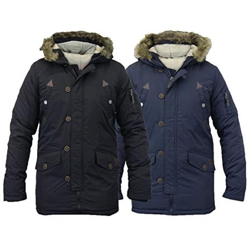 Smart-wear-clothing-BOYS-KIDS-WINTER-RETRO-PADDED-PARKA-PARKER-JACKET-FAUX-FUR-HOOD-COAT-BLACK-NAVY
