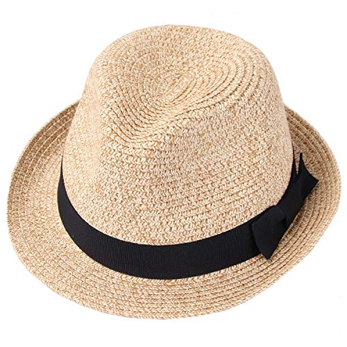 Taylormia Panama Hut für Frauen Sommer Sonnenhut UV-Schutz Faltbarer Strohhut UPF 50+ Kamel (Frauen-sommer-hüte)