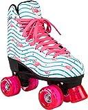 Rookie Rollerskates Flamingo Skate, Damen, Damen, RKE-SKA-2505, Weiß/Multi, 39.5