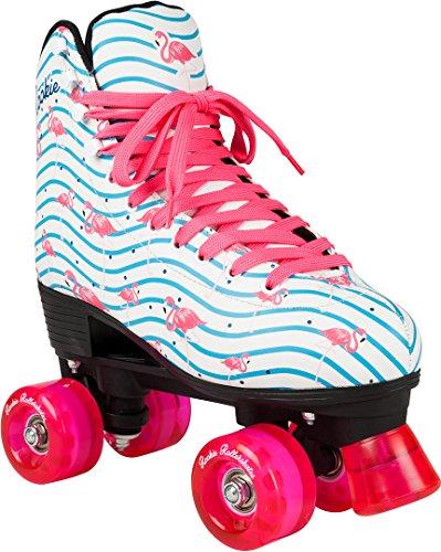 Rookie Rollerskates Flamingo Skate, Damen 38 Weiß/Multi