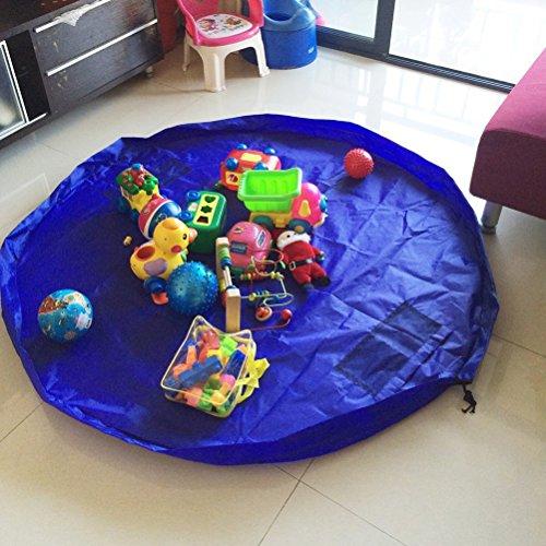 *NUOLUX Tapis de jeu organisateur de grands enfants jouet rangement sac (bleu) Meilleure offre de prix