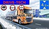 7 Zoll Navigationsgerät Navi Navigationssystem DRIVE-TECH für LKW, PKW, WOHNMOBIL, Camper. 50 Länder Europas, Text-to-Speech, lebenslange Kartenupdates. Neuste Karten, Fahrspurassistent