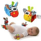 EJY Biene Rasseln Spielzeug Baby Plüschtiere, Kleinkindspielzeug Kinderwagen, Baby Rasseln - Handgelenk band Stil