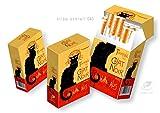 3 Zigarettenschachtel Hüllen Überzieher SLIPP OVERALL Motiv Chat Noir Komplettüberzieher mit Deckel