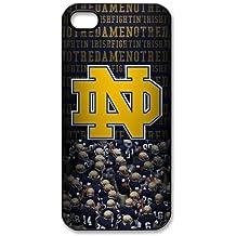 NCAA Notre Dame Fighting Irish iPhone 44S funda, Apple plástico Carcasa rígida Carcasa Protector Idea de regalo
