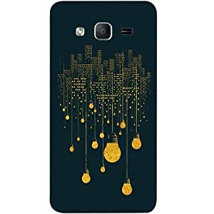 Casotec City Light Pattern Design Hard Back Case Cover for Samsung Galaxy On7