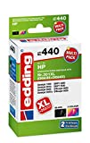 edding Tintenpatrone EDD-440 ersetzt HP 301XL/301XL (CH563EE/CH564EE) Multipack 2 - Schwarz + 3-Farbig - 1x 21ml + 1x 16ml