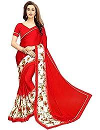 Sareeshop Women's Georgette Saree With Blouse Piece (Prachi-3003-A1Saree_Red)