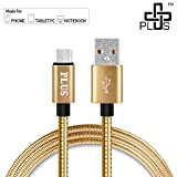 #8: Plus Metal Zinc Alloy USB Cable,Usb Type C To Usb A ,Ultra-Fast 3A Rapid Charge, 5Gbps data transfer speed, all Type C Supported Devices - Gold
