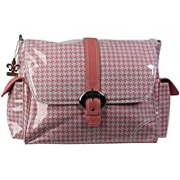 Kalencom - Bolsillo interior con revestimiento impermeable, Rosa (Pink Houndstooth)