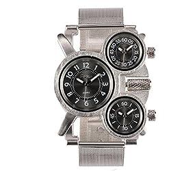 Mann, Quarz-Uhr, Mode, Freizeit, Sport, Metall, w0434