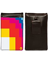 Nutcase Designer Travel Waist Mobile Pouch Bag For Men, Fanny Pack With Belt Loop & Neck Strap-High Quality PU... - B075N5XKD7