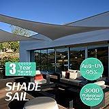 KING DO WAY Sonnensegel Sonnenschatten Segel Baldachin UV-Block Schatten Segel Für die Terrasse Garten Balkon Im Freien Schwimmbad Polyethylen Milchig Schwarz Dreieck 3 * 3 * 3M