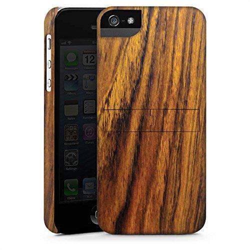 Apple iPhone 5s Housse Étui Protection Coque Look bois Bois de violette Sol en bois CasStandup blanc