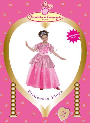 Imagen 1 de Framboise et Compagnie - Disfraz de princesa Flora con falda y diadema rosa para niña (de 5/7 años)