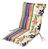 Buri Polsterauflage für Niedriglehner-Gartenstühle Sitzkissen Sesselauflage Auflage