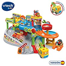 VTech Multi-Workshop Garage TutTut Bolids, Playset Mechanical Workshop with Different Tracks and Levels with Lights, Voices, Songs and Fun Sounds Includes Vehicle Capiculate Crane