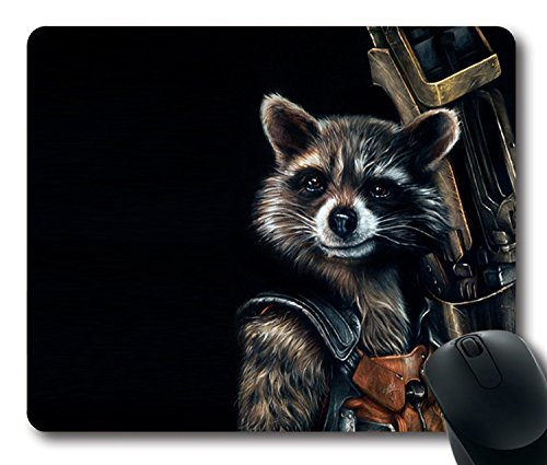 Preisvergleich Produktbild Custom Gaming Mouse Pad with guardians of the galaxy raccoon rocket Non-Slip Neoprene Rubber Standard Size 9 Inch(220mm) X 7 Inch(180mm) X 1/8 Inch(3mm) Desktop Mousepad Laptop Mousepads Comfortable Computer Mouse Mat