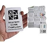 Geo-versand Unisex - Volwassenen Geocaching zakplanner Mystery Decodier-tabblad boek schrift D5 oplossing, meerkleurig, 10 cm