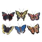 Dregeno Erzgebirge Decoration Butterflies Lifelike 6–Piece