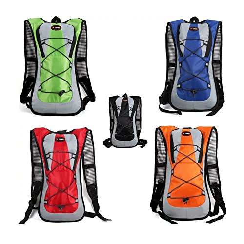 2017nuovi prodotti trekking zaini ,5litri d' idratazione/zaino borsa correre/ciclismo con acqua vescica/tasche, qualità alta qualità a risparmio energetico d' acqua borsa zaino, Black Orange