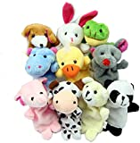 Estone 10pcs Finger Puppets Cartoon Lovely Plush Cloth Toys Doll For Baby Creation New