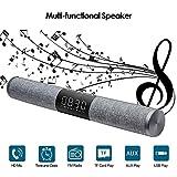 NBZH Drahtlose Bluetooth-Soundbar, Große Bildschirm Uhren-Alarmanlage Tragbare Leiste Multifunktion Dual-Channel-Stereo-Surround-Sound Für PC-Notebook-Smartphone,Gray