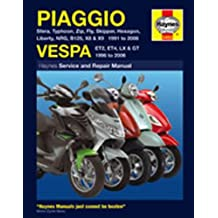 Piaggio: 1991-2003 Vespa: 1996-2003 Service and Repair Manual (Haynes Service & Repair Manuals) by Matthew; Mather, Phil Coombs (2004-01-01)