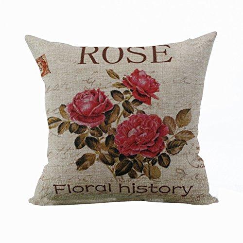 Nunubee Rose Kissenbezug Dekokissen Haus Dekoration weich Quadrat Sofa Kissen als Geschenk der Mutter Tages