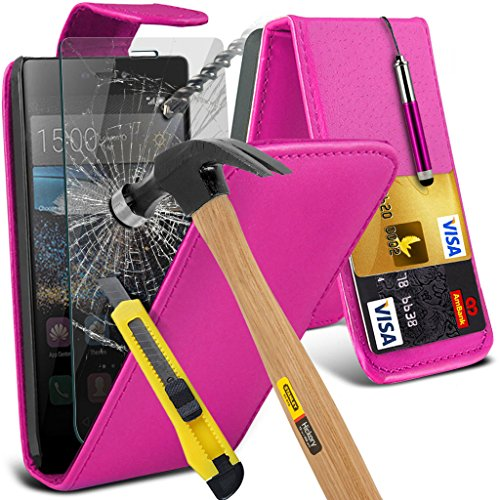 i-Tronixs ( Red ) <b>     Le cas Apple iPhone 6S housse étui     </b>     case étui Premium Quality S Line Wave Gel Case Skin Cover With LCD Tempered Glass Screen Protector Guard, Polishing Cloth & Mini Retractabl Leather Flip + Glass ( Hot Pink )