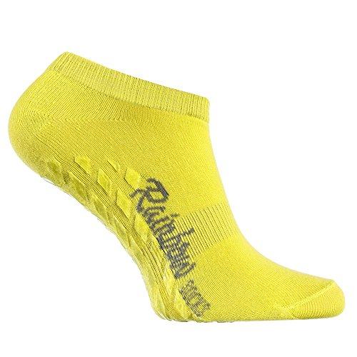 Calcetines tobilleros amarillos