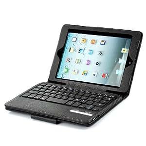 High-Tech Place Coque + Clavier Bluetooth QWERTY pour iPad Mini - Clavier détachable, Noir