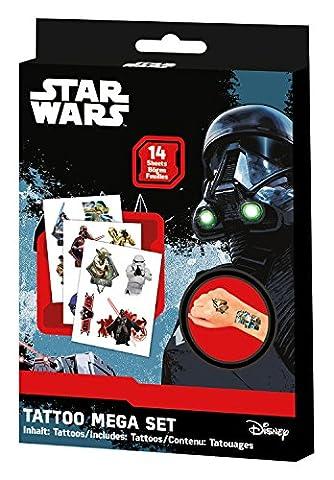 Craze 55701 - Tattoo Box Star Wars, 14 Bögen,