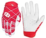 Seibertron B-A-R PRO 2.0 Signature Baseball/Softball Batting Gloves Super Grip Finger Guanti da Baseball da Battitore Fit for Adult Fit for Adult Red S