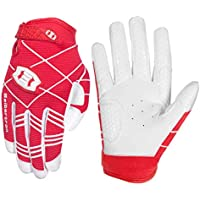 Seibertron B-A-R Pro 2.0 Signature Baseball/Softball Batting Gloves Guantes de bateo de béisbol Super Grip Finger Fit For Adult Red XS