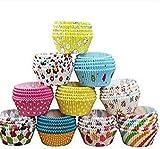 Jellbaby 100pcs PVC Corps Muffin gâteau papier Tasses anti–Huile Chocolat bac à papier de cuisson Couleur aléatoire