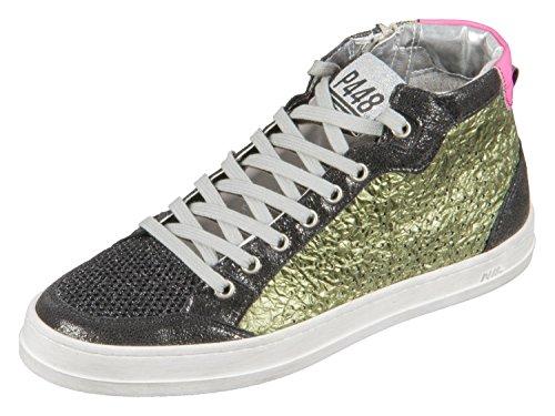 P448 Sneaker high E8Love Rocker Schwarz (Rocker), 39 EU