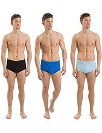 12 lots de sous-vêtements pour hommes, 100% coton, slips colorés renforcés sur le devant en Y, tailles variées
