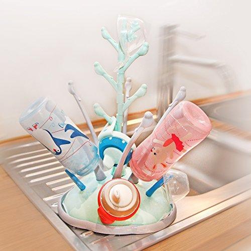 Égoutte-Biberons Arbre, pour petites bouteilles en verre, biberons et accessoire