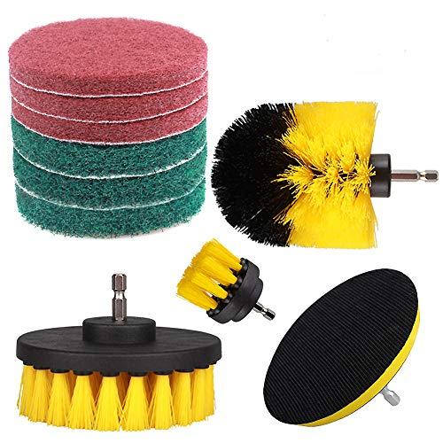 Herramienta de limpieza para taladro y almohadilla de fregado con disco
