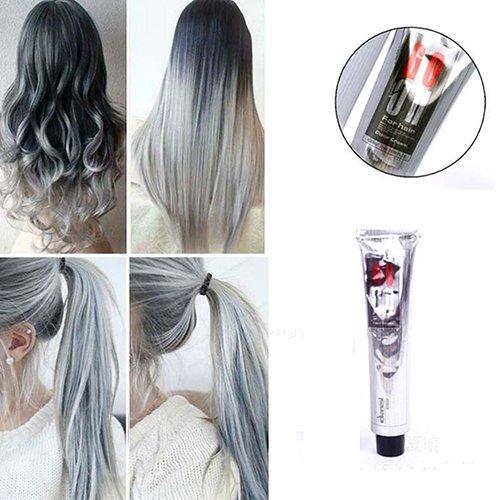 Rocl Haarkreide, 100 ml, Hellgrau, natürliche permanente Haarfarbe, Creme, 1 Stück