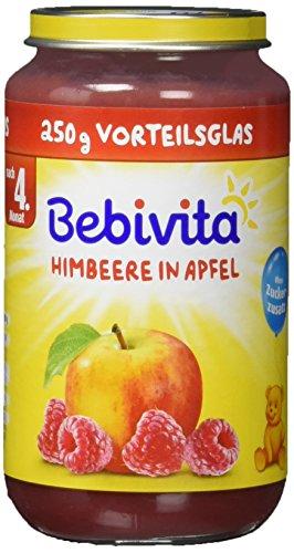 Bebivita Früchte, Himbeere in Apfel, 6er Pack (6 x 250 g)
