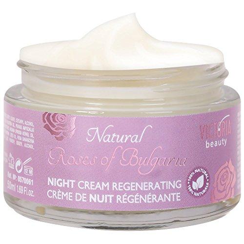 Rose Extract Night Face Cream-Crema naturale con olio di rosa bulgaro-rigenerante crema notte per nutrimento profondo con 100% ingredienti naturali