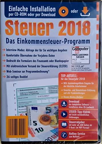 Steuersoftware Steuer 2018 DISCOUNTER CD Steuererklärung Steuerprogramm Einkommensteuer 2018 Einkommensteuererklärung ELSTER, Freiberufler, Arbeitnehmer Steuererklärung Aldi